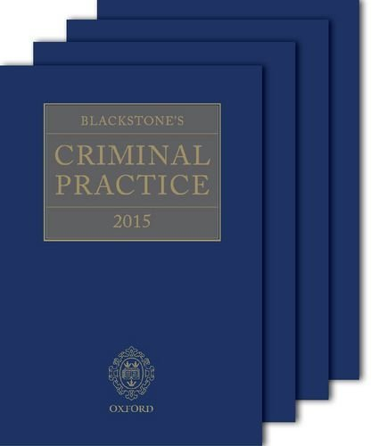 Blackstone's Criminal Practice 2015 (book and supplements) by Professor David Ormerod QC (Hon) (2014-10-09)