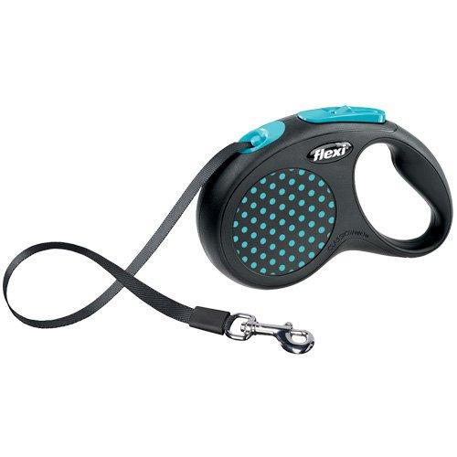 flexi . Roll-Leine Design, Gurt 5 m für Hunde bis Maximal 50 kg , L, blau