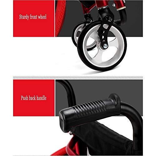 41 Dk9azZ9L - 2020 Silla de ruedas asistida Silla De Ruedas Portátil Plegable Silla De Ruedas Deportiva Y De Ocio Con Aleación De Aluminio Ultraligera Liberación Rápida Rueda Trasera Amortiguador Trolley Discapacit