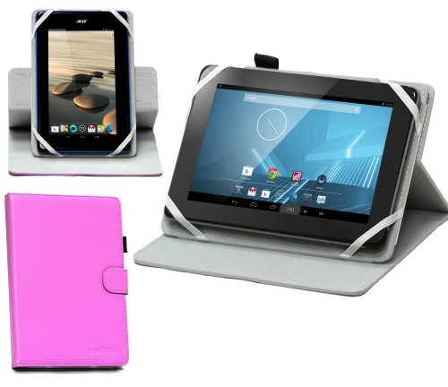 Navitech Odys Connect 7 Pro 17,8 cm (7 Zoll) Tablet-PC rotierbares bycast Leder Case / Cover in Lila