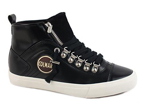 COLMAR Durden Neat sneakers lacci sportiva ECO PELLE BLACK NERO 097 39