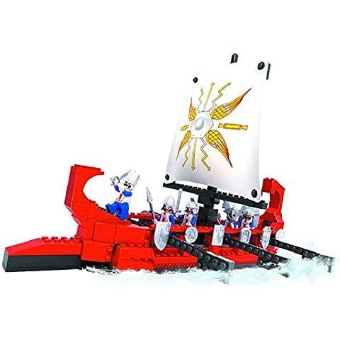 Kidoloop bloques de construcción piratas barco, color rojo ladrillo construcción juguetes 300pcs construir pirata barco