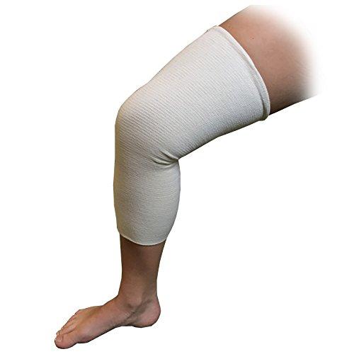 Vendaje tubular de compresión elástico de 1 metro, para rodilla, pantorrilla y muslo, talla F; circunferencia de la venda sin estirar de 20 cm