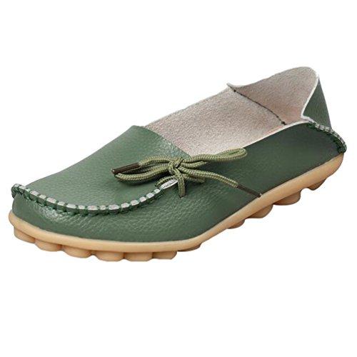 Bild von Heheja Damen Freizeit Flache Schuhe Low-top Mokassin Loafers Erbsenschuhe