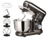 Küchenmaschine | Rührmaschine | Teigmaschine | Knetmaschine | Teigkneter | 1500 Watt | 6 Geschwindigkeitsstufen | Pulsfunktion | 4,5 Liter |