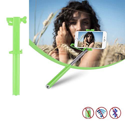 X-Tab Selfie Stick für MEDION Life E5020 Selfie Stange Stick Halterung Mini Handy - UStick Grün