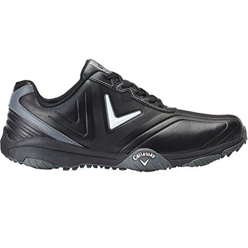 Callaway Chev Comfort Chaussures de Golf pour Homme Noir/Argenté Taille 42,5