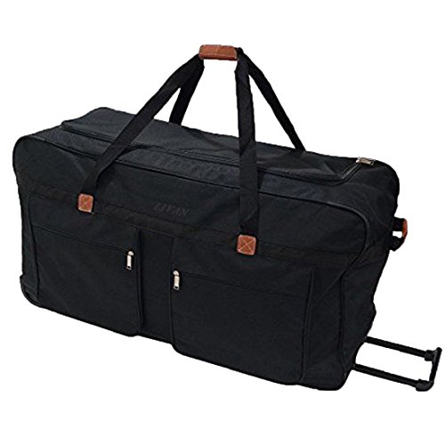 Livan® sac de voyage trolley à roulettes taille XXL 90cm gros volume valise bagage poches manche chariot avec roues neuf