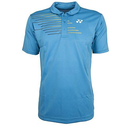 YONEX 12133ex Polo da uomo Tennis Badminton Racchetta Da Squash Abbigliamento sportivo, Water Blue, XL