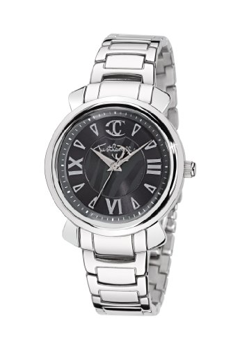 Just Cavalli R7253179523 - Reloj analógico de Cuarzo para Mujer con Correa de Acero Inoxidable, Color Plateado