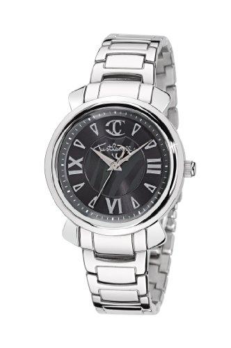 Just Cavalli R7253179523 - Reloj analógico de Cuarzo para Mujer con Correa de Acero Inoxidable, Color Plateado