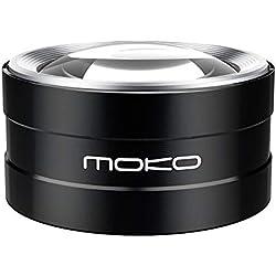 MoKo 5X Lupa con Luz LED, Aumento Lupa Iluminada de Escritorio con Ultra Brillate Luz Lámpara, Lectura, Inspección, Exploración, Baja Visión (Incluye Funda) - Negro