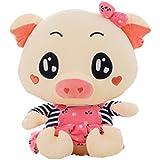 Good Night Cerdo de dibujos animados Sofá de juguete de peluche para Niños y niñas, Regalos perfectos para los niños en Navidad / Cumpleaños