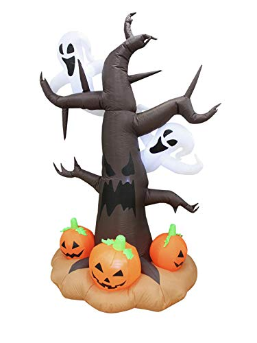 showking Halloween Baum IKAROS mit Gespenstern und Kürbissen, selbstaufblasend, 240 cm - Gursel ()