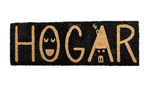 Felpudo Fibra Coco Negro HOGAR 75x25cm