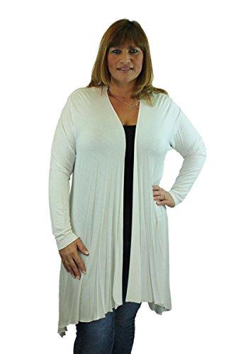 CELEB LOOK -  Cardigan  - Basic - Classico  - Maniche lunghe  - Donna Bianco latte
