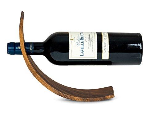 Weinflaschenhalter Holz Akazie B x T: 28 x 7,5cm Flaschenhalter Weinhalter Geschenkidee Natur Tischdeko Weinständer