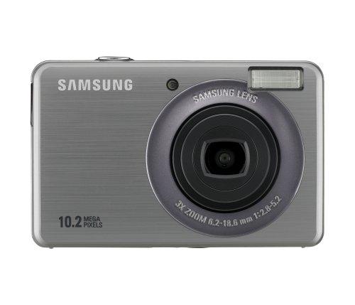 Samsung PL50 Digitalkamera (10 Megapixel, 3-Fach Opt. Zoom, 6,9 cm (2,7 Zoll) Display, Bildstabilisator) Silber 10.2 Mp, 2.7
