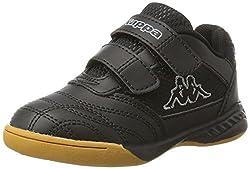 Kappa Kickoff, Scape per Sport Indoor Unisex-Bambini, Nero (Black/Grey 1116), 33 EU