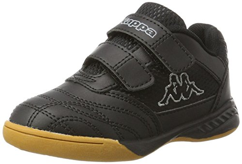 Kappa Unisex-Kinder Kickoff Low-Top, Schwarz (Black/Grey 1116), 35 EU Sohle Low Top Schuhe
