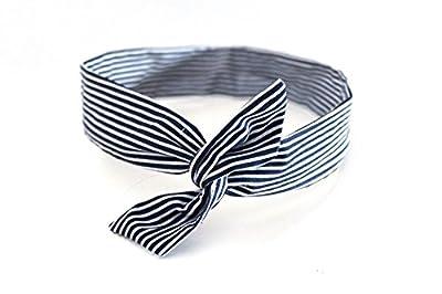 Bandeau rigide court bleu et blanc