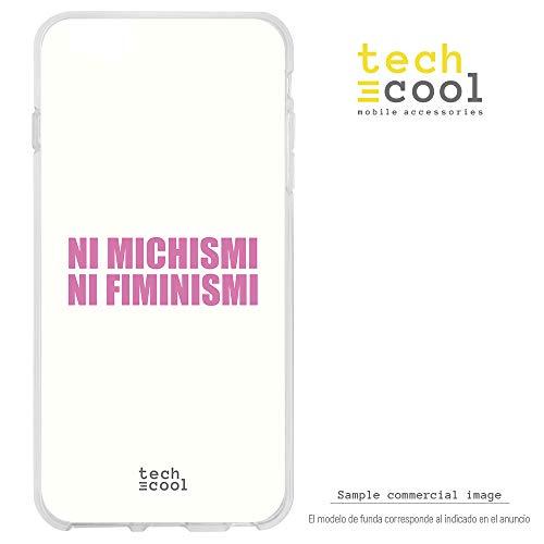 Funnytech® Funda Silicona para Samsung Galaxy J7 2017 [Carcasa Ultra Slim Gran Resistencia Alta Definición] [Frase Meme Feminismo machismo Humor Fondo Blanco]