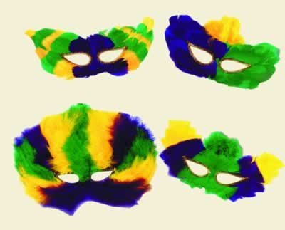 Beistle Party Dekoration Mardi Gras fanci-Feather Filtermaske Gegen Feinstaub 12Stück (Mardi Masken Feather Gras)