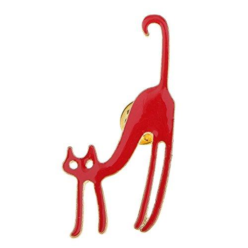 Unbekannt Anstecknadel Kragen Broschen Stecknadel Nadel Pins Emaille Nette Katze Rot