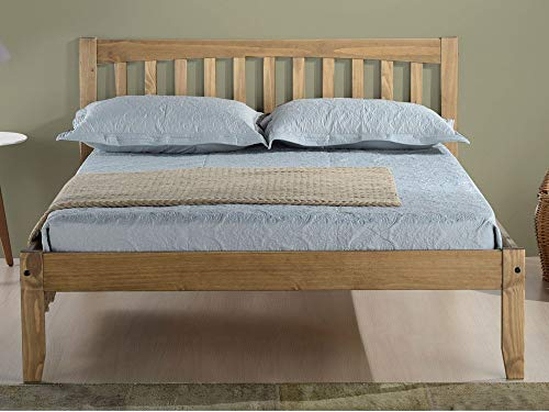 Birlea Porto Bed - Wood, Pine, Double