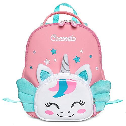 Cocomilo Kinder-Rucksack, wasserdicht, für Kleinkinder, niedliches Tier-Design, mit Anti-Verlust-Leine Pink Rosa, Einhorn Normal