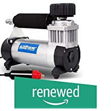 (Renewed) AllExtreme AE-8300 Portable Air Compressor Pump Heavy Duty Tire Inflator with Cigratte Lghter Plug and Extension Air Hose (150 PSI)