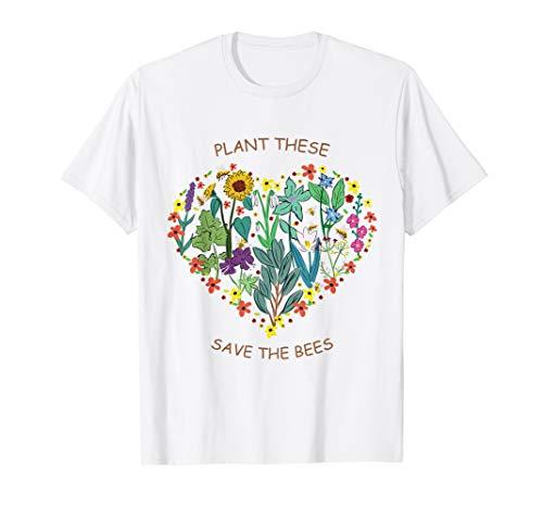Rettet die Bienen T-Shirt - Plant These Save The Bees Imker