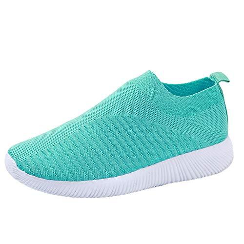 BaZhaHei Scarpe Donna Sneakers Eleganti,Ragazze Casual Traspirante Soft Scarpe da Corsa Camminata Calcetto Scarpette Fondo Piatto Shoes con Sportive All'aperto