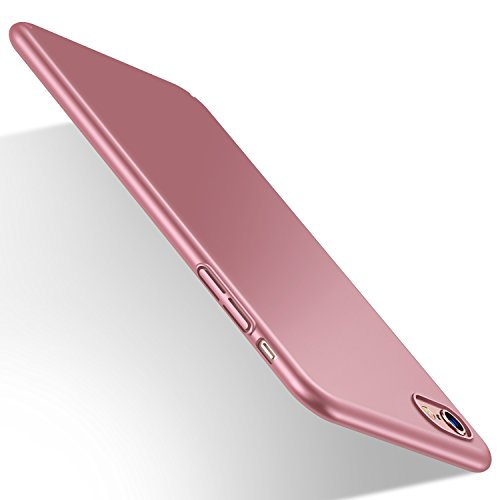 Coque iPhone 6/6s, HUMIXX Mince Lisse Protection Complète (Texture de Téléphone nu) Mat Coque Rigide Étui pour iPhone 6/6s rouge [Skin Series] … (or r...
