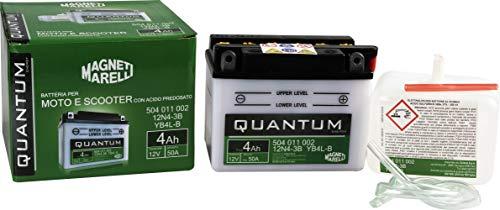 Batteria moto scooter 4Ah 12V 50A acido predosato Quantum