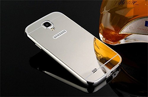 Exoic81 Luxury Metal Bumper Acrylic Mirror Back Case For Samsung Galaxy Grand Duos (GT-I9082) - SILVER  available at amazon for Rs.215
