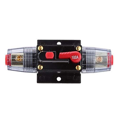 JZK 12 V - 24 V DC 100A interruttore a fusiblie riarmabile automatico interruttore termico ripristinabile fusibile in linea per audio inverter auto camper furgone moto gommone