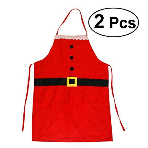 Delantal Navidad BESTOMZ Delantal Papá Noel niños