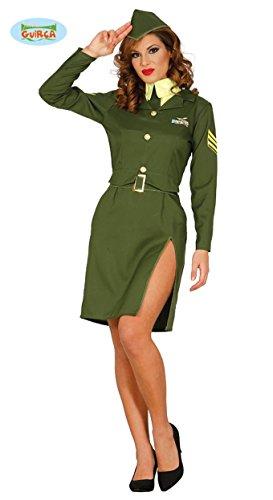 sexy Militär Soldatin Soldat Kostüm für Damen Damenkostüm grün Pilotin Gr. M-L, (Kostüme Damen Militär)