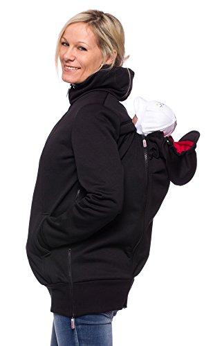 """Milchshake - Softshelljacke mit Rückentragefunktion - """"Albatros"""" - schwarz/rot - XL"""
