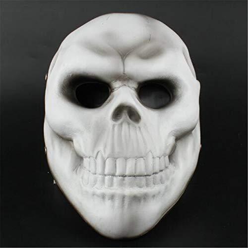 LPP Halloween Masken, White Bone Face Craft Geschenke, Rollenspiel Maskerade Cosplay Harz Dekoration Facepiece