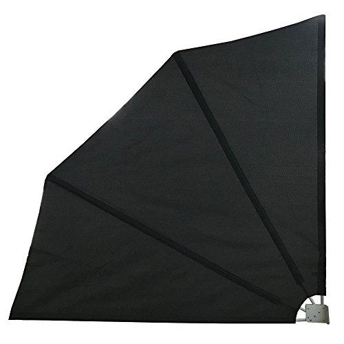 LZQ Seitenmarkise klappbar mit Wandhalterung Sichtschutz Balkon Windschutz Balkonsichtschutz Seitenmarkise (160x160cm, Anthrazit)