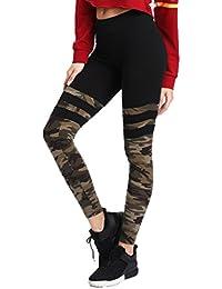 Pantalones Yoga Mujeres, ❤️Xinantime Pantalones deportivos de mujer Camo Stitching Leggings de fitness de yoga Running Stretch Trousers, Tamaño S-XL