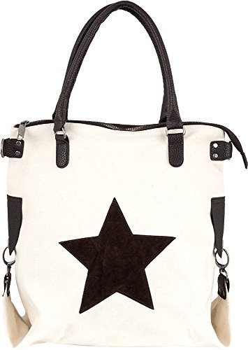 Bags4Less - F3151, Borsa a tracolla Donna Crema