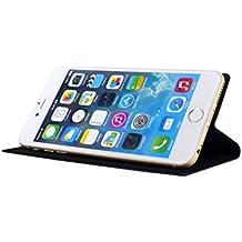Real Madrid RMFM014 - Funda tipo folio con función soporte para Apple iPhone 6 Plus, negro