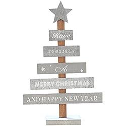 Decoración árbol de Navidad Madera, Holacha Lindo Accesorios de Fiesta Feliz Navidad (A)