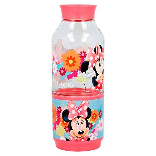 Minnie Mouse Bouteille avec Compartiment Snack 300 ML (Stor 14537)