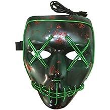 joyliveCY Máscara de Halloween con luz, Cable LED, máscara para Fiesta ...