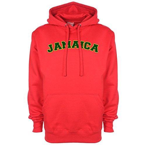 Jamaica Pallone da calcio Sports-Felpa con cappuccio Rosso