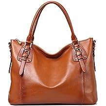 9c27c83f349 Bolso de Piel Bolso Cuero de Hombro Tote Bag para Mujer